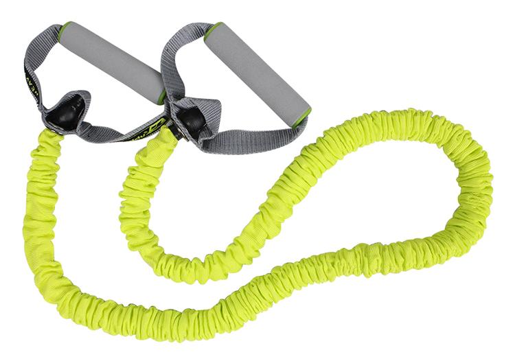 Chiều dài của dây đàn hồi lên tới 1,4m giúp dễ dàng tập luyện nhiều bài tập khác nhau