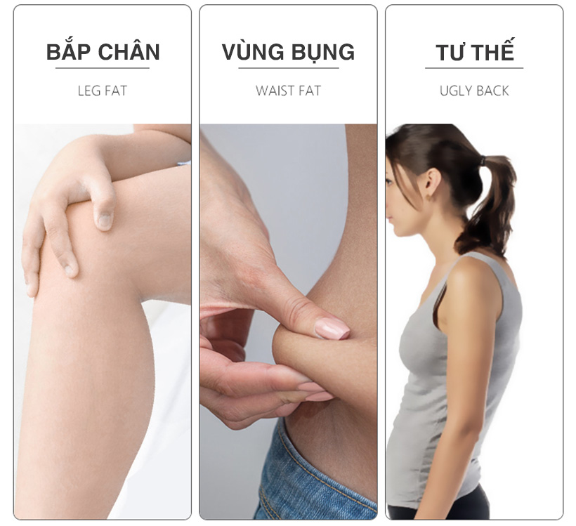 Dây tập đàn hồi tiêu mỡ các vùng bắp chân, bụng, cải thiện tư thế