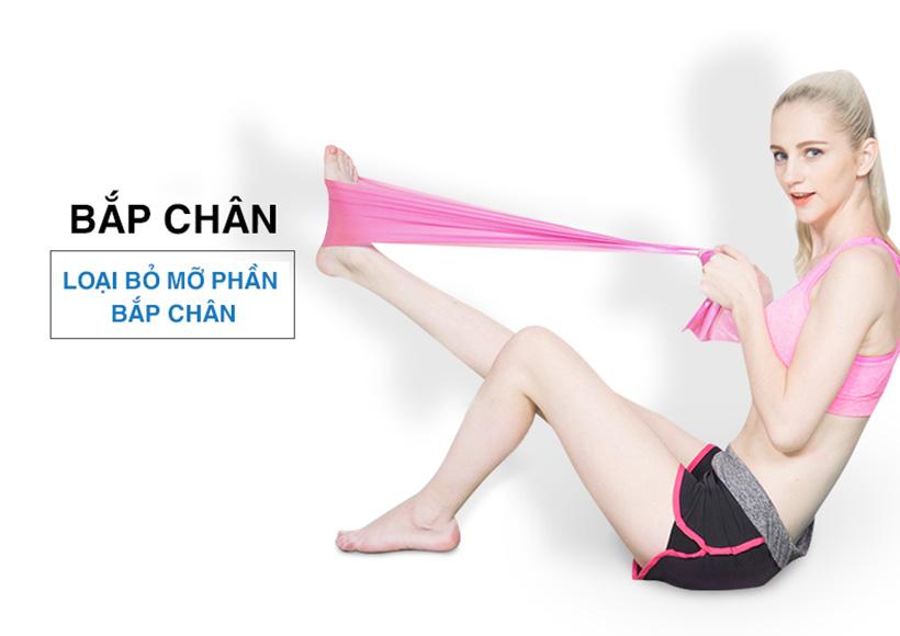 Bài tập cùng dây đàn hồi giúp loại bỏ mỡ phần bắp chân