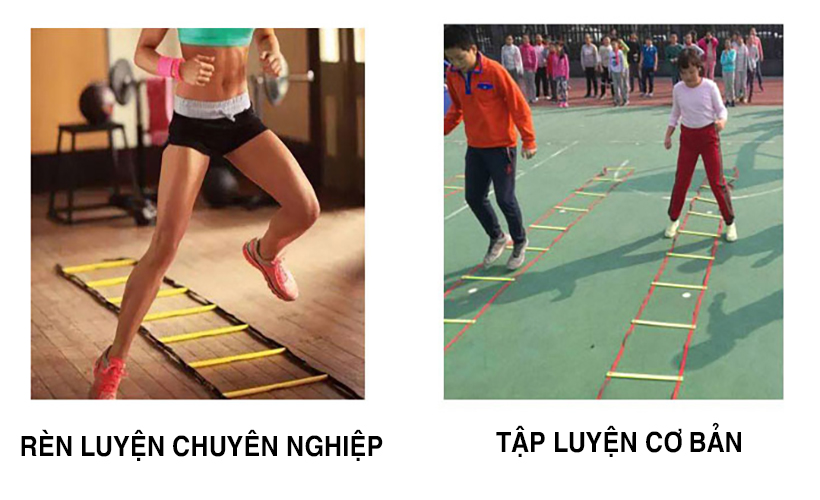 Thang dây tập luyện để rèn luyện đôi chân