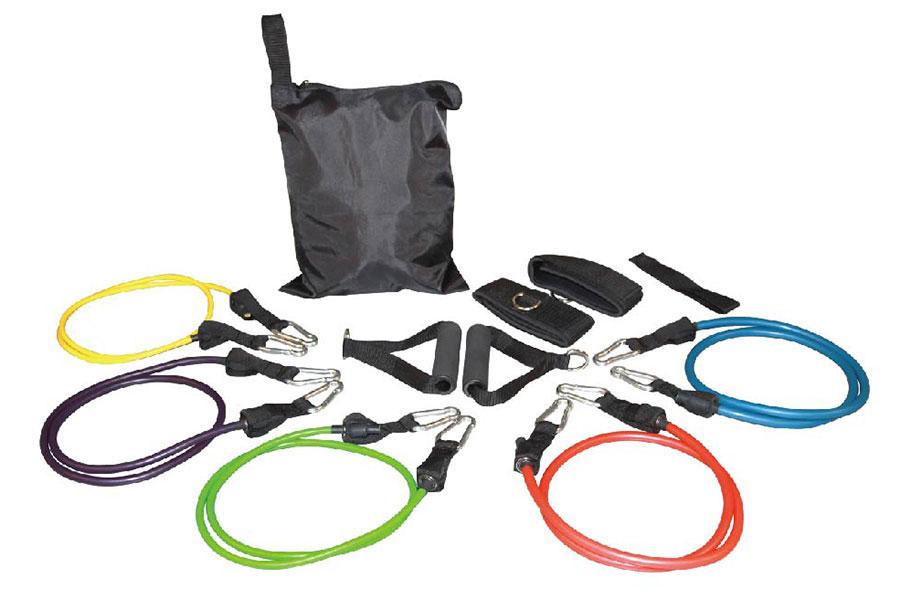Sản phẩm bộ 5 dây thể dục đàn hồi được tặng kèm rất nhiều phụ kiện kèm theo