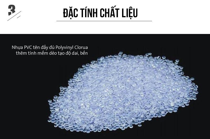 Đặc tính của chất liệu nhựa PVC