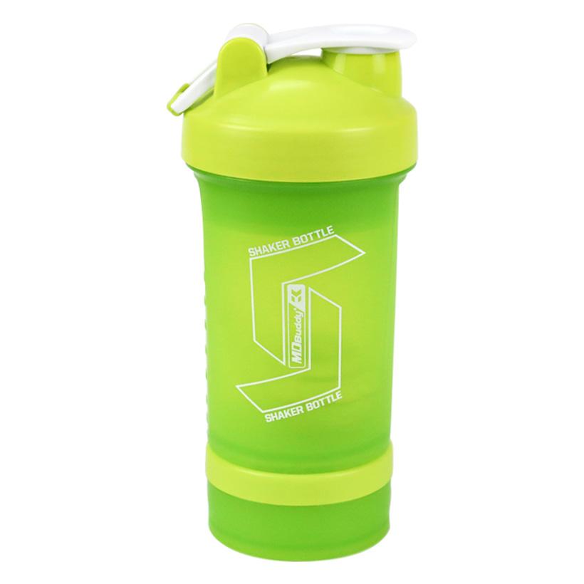 Hình ảnh thực tế chiếc bình lắc Shaker Bottle 4 trong 1 chính hãng MDBuddy