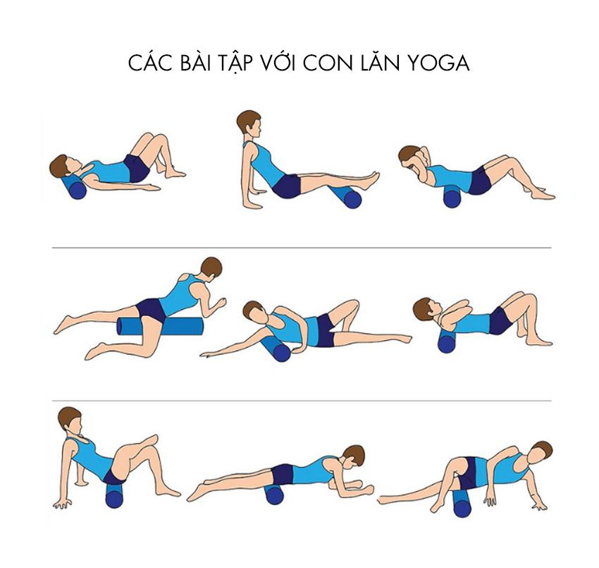 Gợi ý những bài tập khi tập cùng con lăn massage