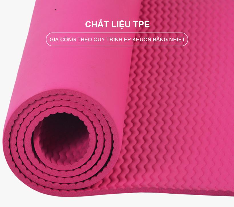 Thảm tập Yoga được làm từ chất liệu TPE cao cấp