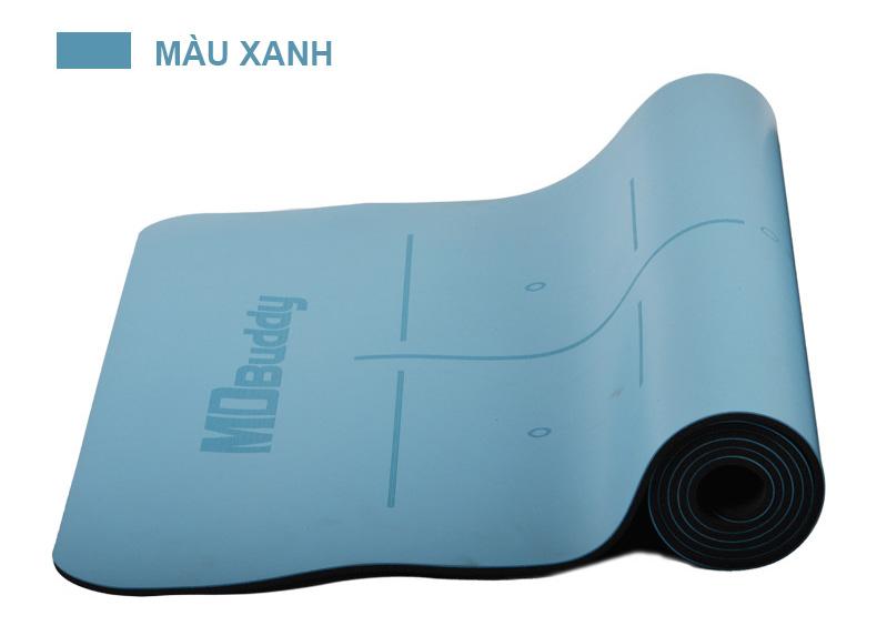 Thảm tập Yoga MDBuddy MD9040 màu xanh