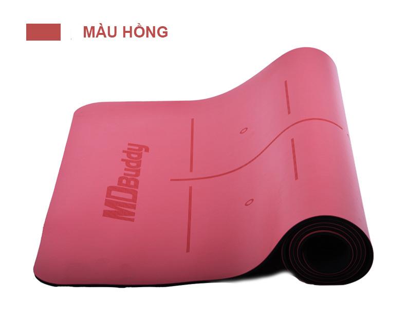 Thảm tập Yoga MDBuddy MD9040 màu hồng