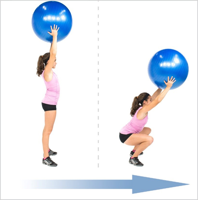 Bài tập thể dục Overhead Squat